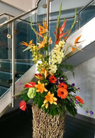 Tropical Pedestal Arrangement