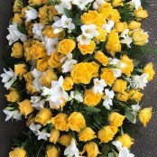 Rose and Freesia Coffin Spray